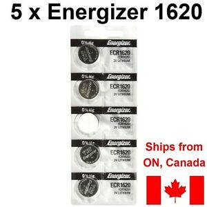 5-NEW-Energizer-CR1620-Lithium-Batteries-3v-1620-ECR1620-DL1620-battery
