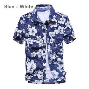 Hommes-Chemise-hawaienne-ete-plage-manche-courte-en-vrac-Haut-Deguisement-11