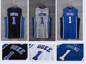 0b6cb344de00 Kyrie Irving  1 NCAA Duke Blue Devils Men Stitched Basketball Sewn S ...
