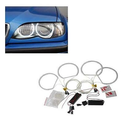 Fits E53 2000-2006 Reflector Headlight CCFL Angel Eye Kit 6000K White