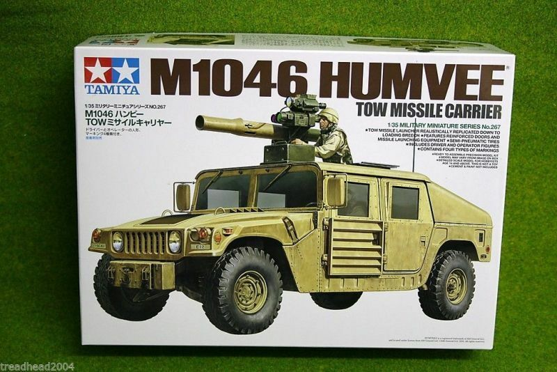 Tamiya M1046 HUMVEE TOW MISSILE CARRIER 1 35 Scale Kit 35267 D