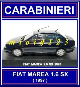 1/43 - Carabinieri : Fiat Marea 1.6 Sx - 1997 - Die-cast ModèLes à La Mode