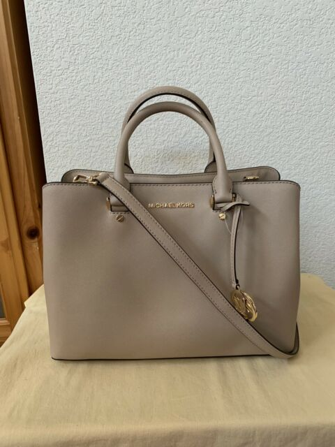 Michael Kors Savannah Saffiano Leather Large Satchel Crossbody Handbag