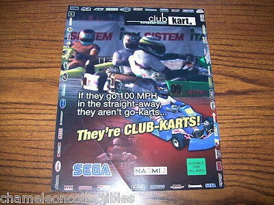Merchandise & Memorabilia Club Kart By Sega 2000 Original Video Arcade Game Machine Flyer Brochure