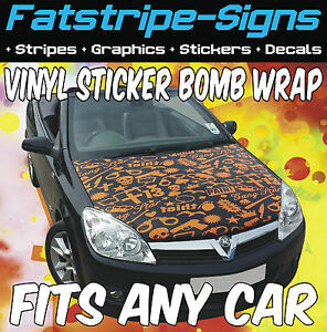 ford ka turbo sticker bomb bonnet wrap car graphics decals. Black Bedroom Furniture Sets. Home Design Ideas