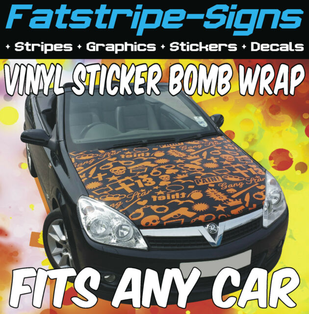 Ford Ka Turbo Sticker Bonnet Wrap Car Graphics Decals Stickers Street