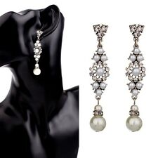 Elegant Sophisticated Dangle Occasion Victorian Vintage Bridal Pearl Earring
