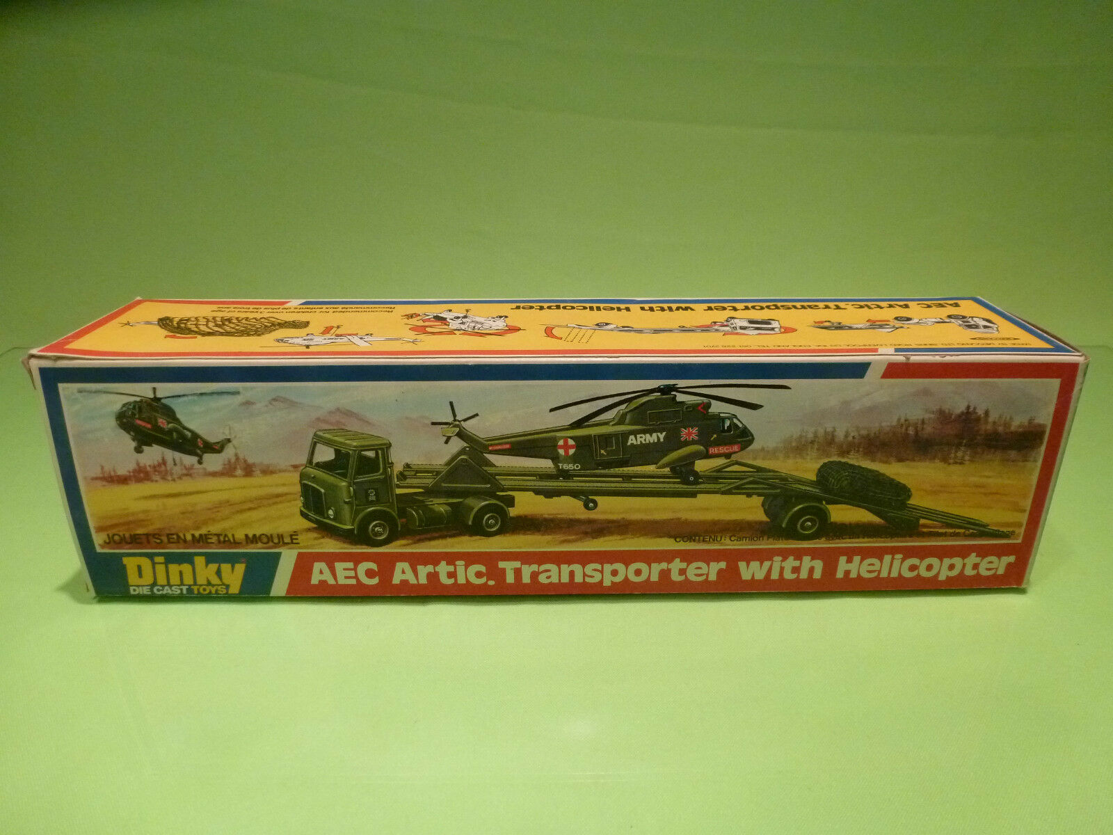 acquisti online DINKY giocattoli 618 AEC ARTIC TRANSPORTER + + + HELICOPTER - RARE SELTEN - GOOD IN scatola  in cerca di agente di vendita