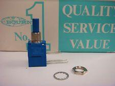 "(1) Bourns 96A2DZ28EA0167 Dual 10K Ohm 5/8"" Square Single Turn Potentiometer"