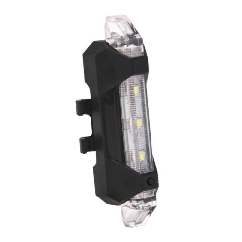 5 LED USB Rechargeable Bike Bicycle Tail Rear Safety Warning Lights Alarm Lamp