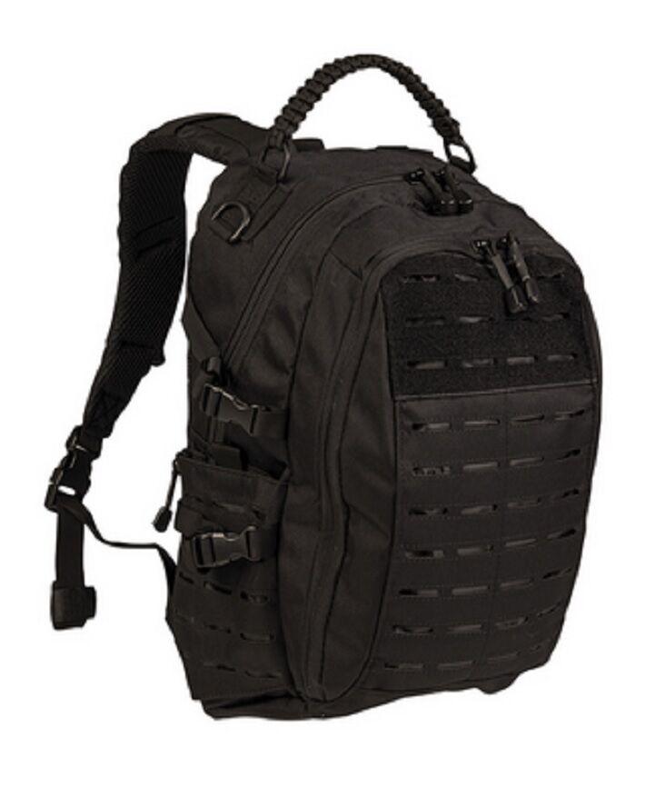 MISSION Day PACK LASER CUT SM Outdoor Freizeit Daypack Rucksack schwarz schwarz