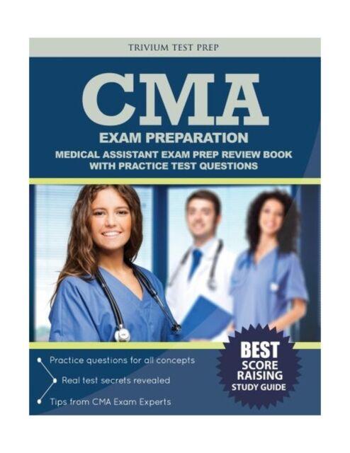 cma exam preparation medical assistant exam prep review book w free shipping