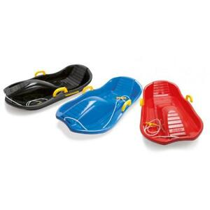 Deluxe-Sled-with-Brakes-BLUE-Winter-Snow-Fun-Sledge-By-Dantoy-6765-Handle-Rope