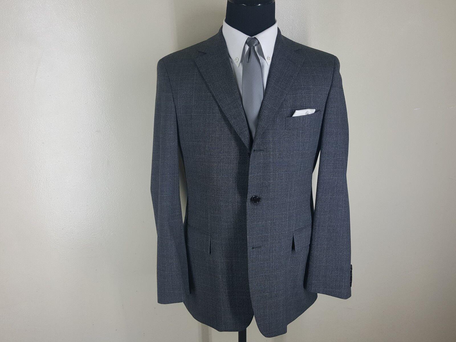 HUGO BOSS Made In USA Sport Coat 3 Btn Side Vents Wool Blend  40R- Fit 40-42 Reg