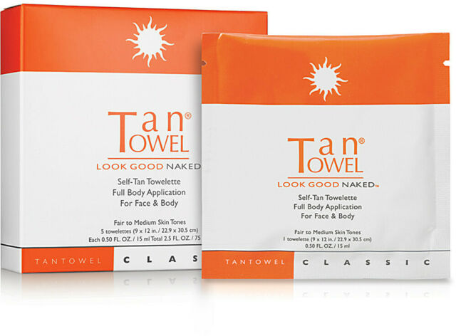 Tan Towel - Tan Towel Self Tanner Towelette, Half Body