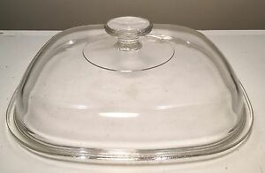 Pyrex-Replacement-Lid-A-12-C-Domed-Clear-Glass-replacement-for-5-Qt-Casserole