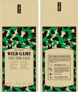 CAMO PRINT WILD GAME GROUND MEAT FREEZER CHUB BAGS 2LB 1000 COUNT