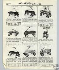 1959 61 PAPER AD Rex Garton Radio Flyer Line Super Coaster Wagon Rapid Delivery