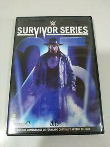 Survivor-Series-2015-WWE-Espanol-Ingles-Aleman-DVD-Region-2-y-5-DVD-PAL