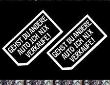 2x Visitenkarte nein danke Autohändler Aufkleber ich nix verkaufe meine Auto