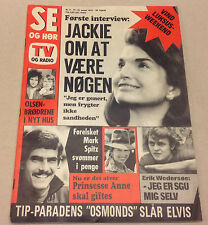 JACKIE KENNEDY ONASSIS ARISTOTLE NUDE PHOTO FRONT COVER VTG Danish Magazine 1973