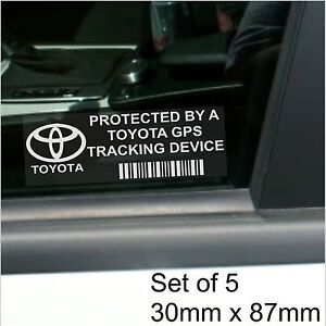Image Is Loading 5 X Toyota Gps Tracking Device Security Stickers
