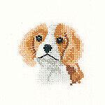 Aida Heritage Crafts puntada cruzada contada Kit-Spaniel Cachorro-Little Friends