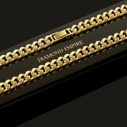 Tanques cadena collar cadena 50,55 cm x 8 mm 750er oro dorado PVP 125 € k1813