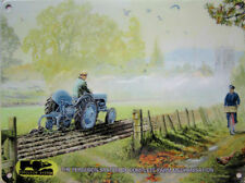 Ferguson Tractor Old Plough, Countryside Farming Village, Small Metal/Tin Sign