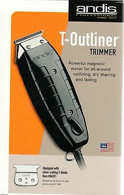 Andis Hair Trimmer GTO Black T Outliner Blade Barber