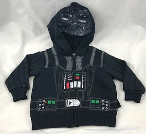 Star Wars Darth Vador Baby Hooded Jacket with Cape New