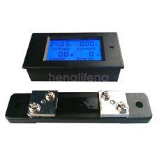 Dc 65100v 50a Lcd Digital Combo Panel Display Volt Amp Power Watt Meter Shunt
