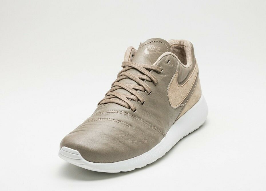 Nike homme Roshe Tiempo VI QS Leather 13 chaussures NEW Khaki/Hay/blanc Taille 13 Leather 70a189