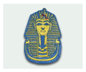 King Tut Tutankhamun Hierro Coser Parche Bordado