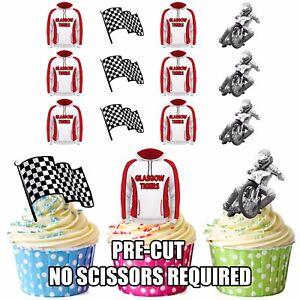 Precut Glasgow Tigers Speedway Edible Cupcake Topper Cake