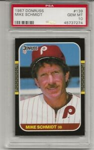 1987-DONRUSS-139-MIKE-SCHMIDT-PSA-10-GEM-MINT-HOF-PHILADELPHIA-PHILLIES