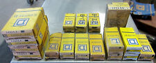 SQUARE D 1-B10.2  1-A11.9 1-B14 1-A1.16 etc RELAYS THERMAL UNITs Misc. Lot of 17
