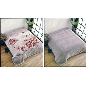 Korean Blanket Mink Heavy 11 Lbs Queen /& King Size Thick Warm Plush Soft Blue