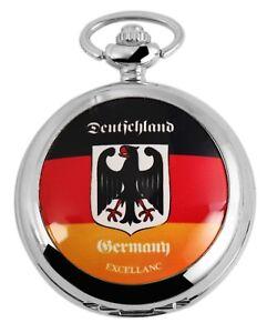 Excellanc-Taschenuhr-Deutschland-Adler-Wappen-Germany-Analog-Quarz-X4000025002