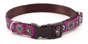 Douglas-Paquette-PINK-DELIGHT-Nylon-Ribbon-Adjustable-Dog-Collar-Harness-Lead