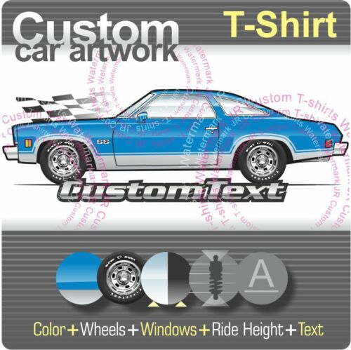 Custom T-shirt pour 1973 73 454 Chevrolet Chevy Chevelle à manches courtes 350 Colonnade fans