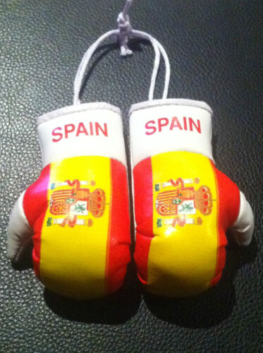 SPAIN / SPANISH FLAG Mini Boxing Gloves *NEW*
