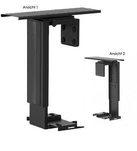 computer halter f r den schreibtisch pc halterung verstellbar untertisch ebay. Black Bedroom Furniture Sets. Home Design Ideas