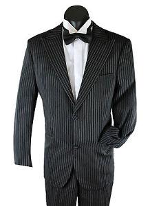 NEW-AMBASSADOR-MEN-039-S-BLACK-PINSTRIPE-SUIT-1920s-Gangster-Fancy-Dress-Costume