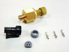 "AEM 150 Psi Brass Oil/Fluid Pressure Sensor Kit & Connector 1/8"" NPT"