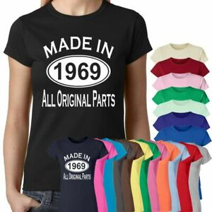 55de36040 Made In 1969 All Original Parts 50Th Birthday Gift Present Womens T ...