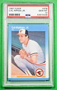 1987 FLEER #478 CAL RIPKEN JR. PSA 10 🏦 ORIOLES HOF