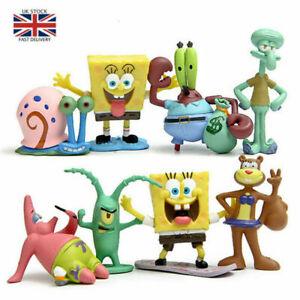 SpongeBob-SquarePants-TV-Action-Figures-Cake-Toppers-Doll-Set-Kids-Toy-Gift-8PCS