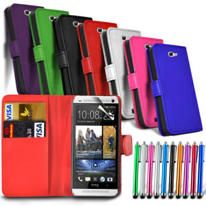 buy online 473b5 6a761 Details about Sony Xperia XA F3111 F3113 F3115 - Leather Wallet Card Slot  Case Cover & Stylus