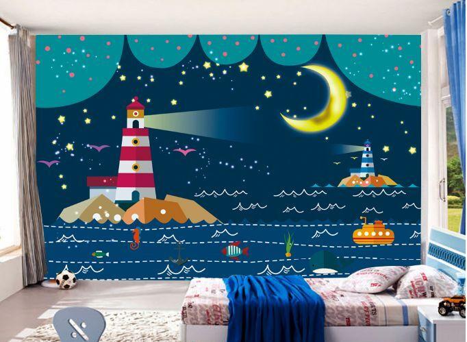 3D Mare, Torre 08 Parete Murale Foto Carta da parati immagine sfondo muro stampa